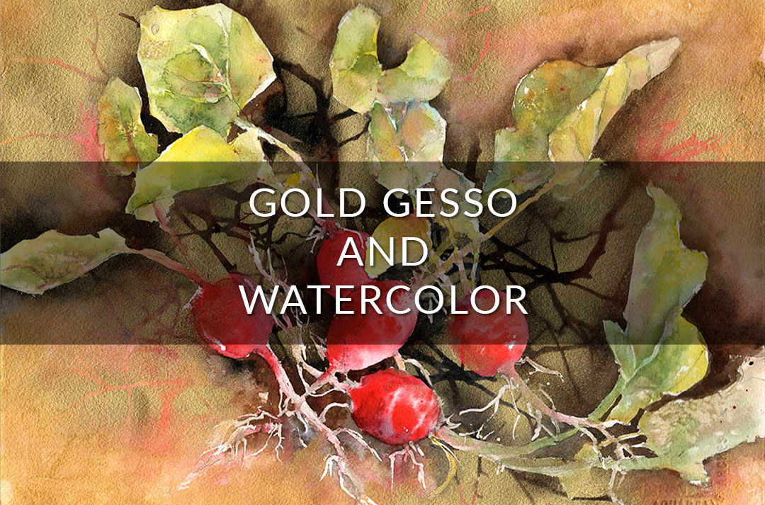 Gold Gesso Radishes Video