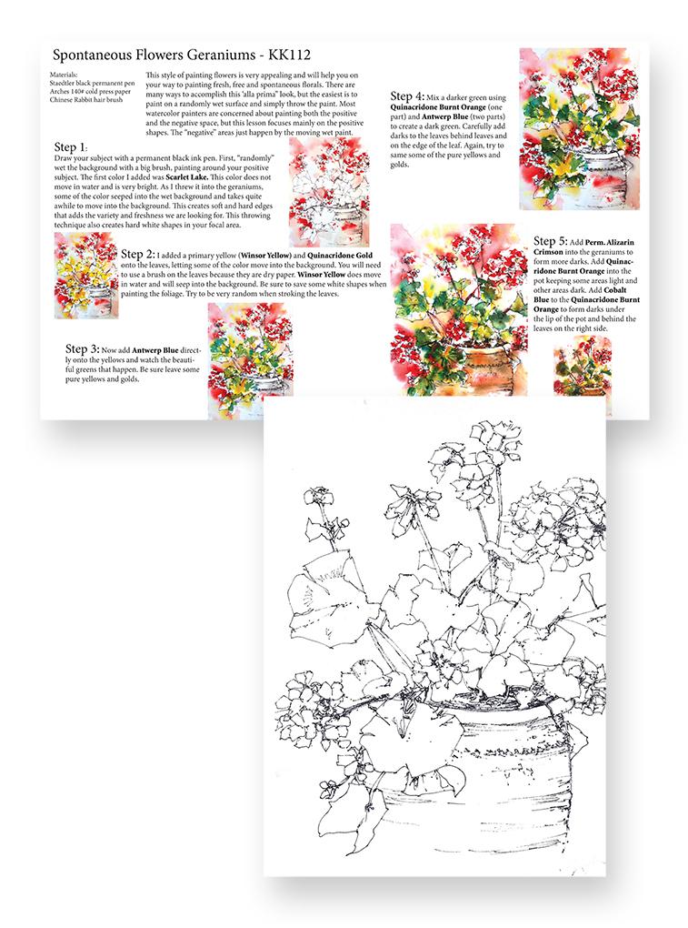 KK112 Spontaneous Flowers Geraniums