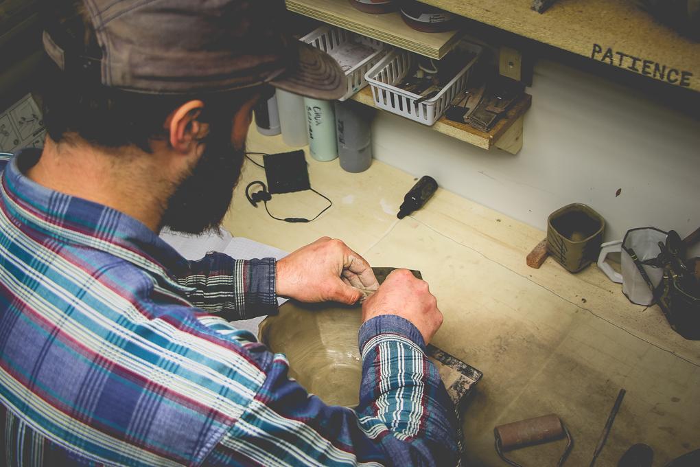 John Scully Pottery making Pottery