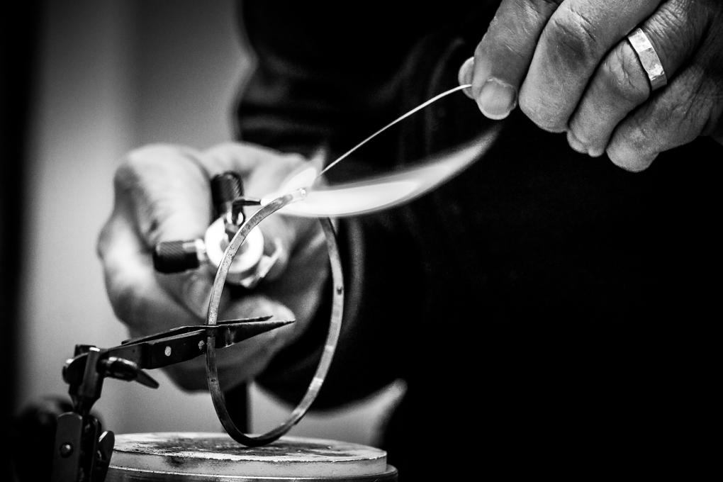 Sterling Silver Earrings by Ron Piercy