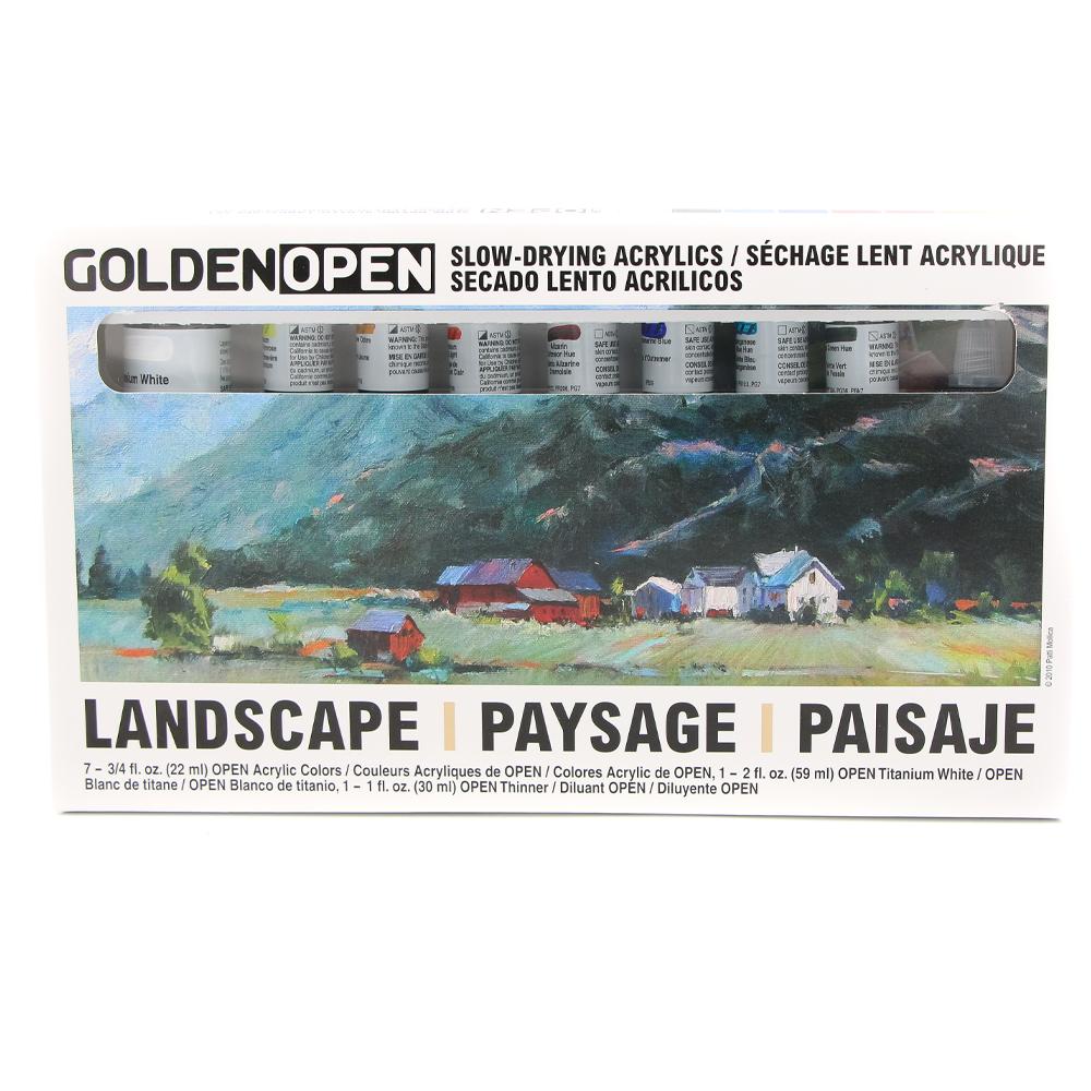 Acrylic Golden OPEN Landscape set