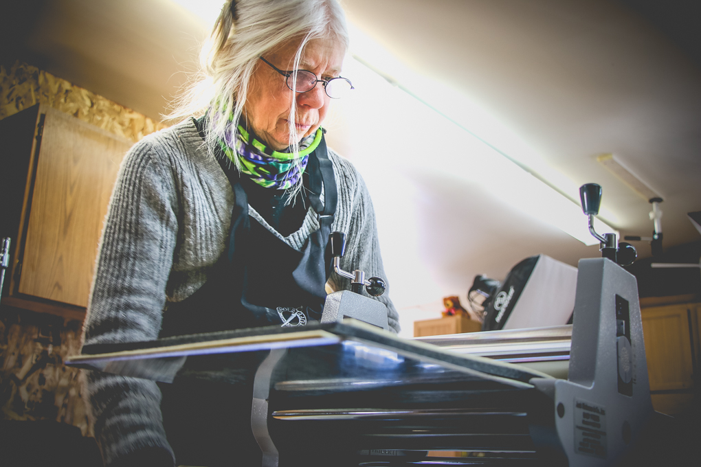 Betsy Bowen in the Print Studio