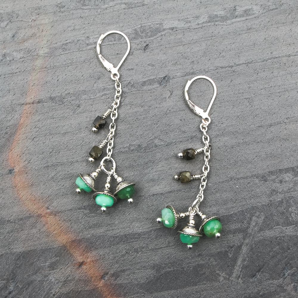 Boho Chic Chrysoprase Earrings