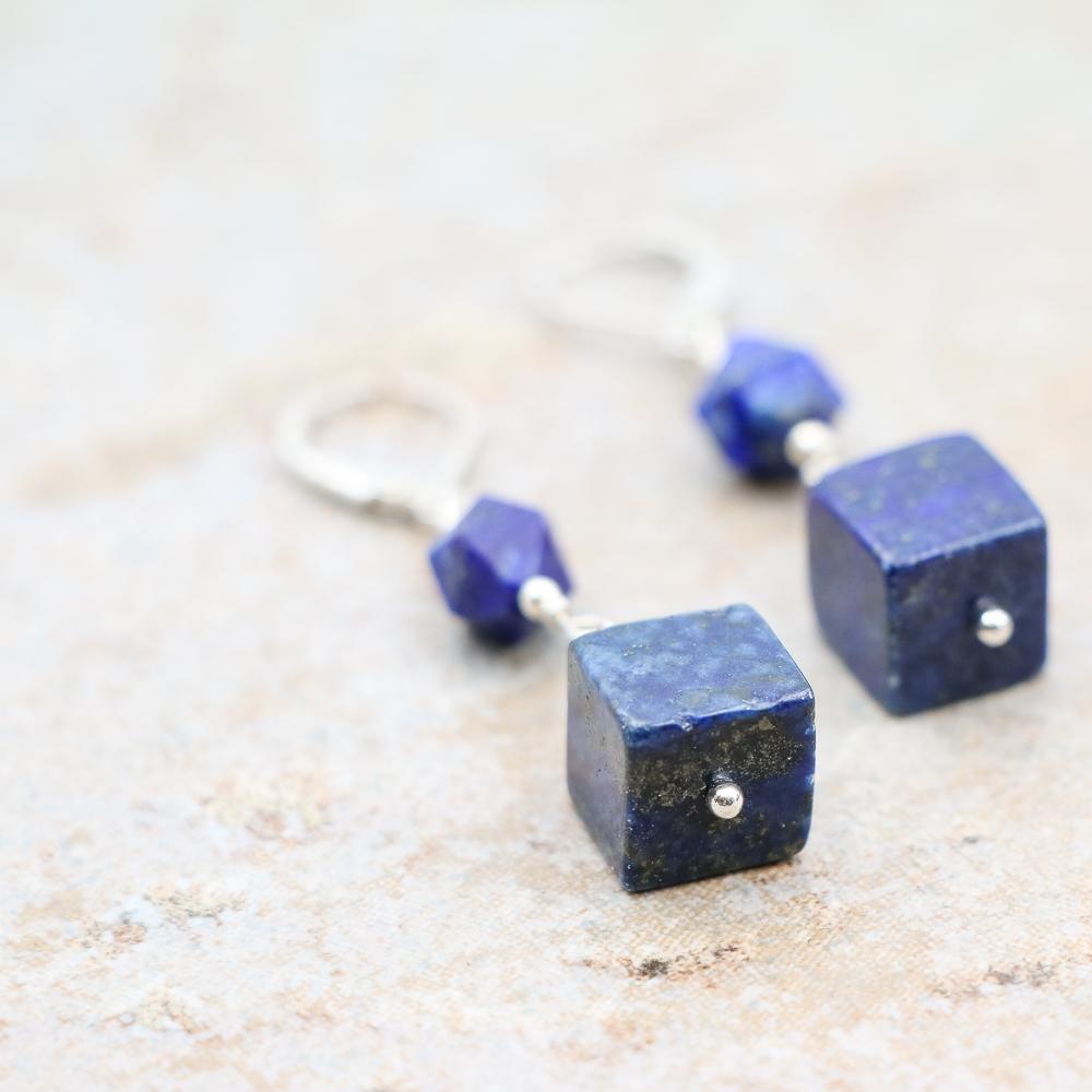 Blue Afghan Lapis Lazuli Earrings
