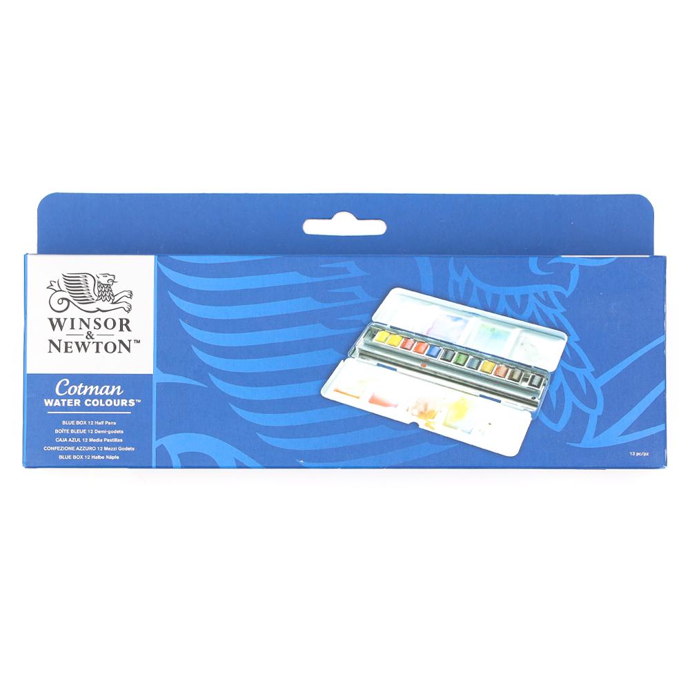 Watercolor Palette - Blue Box