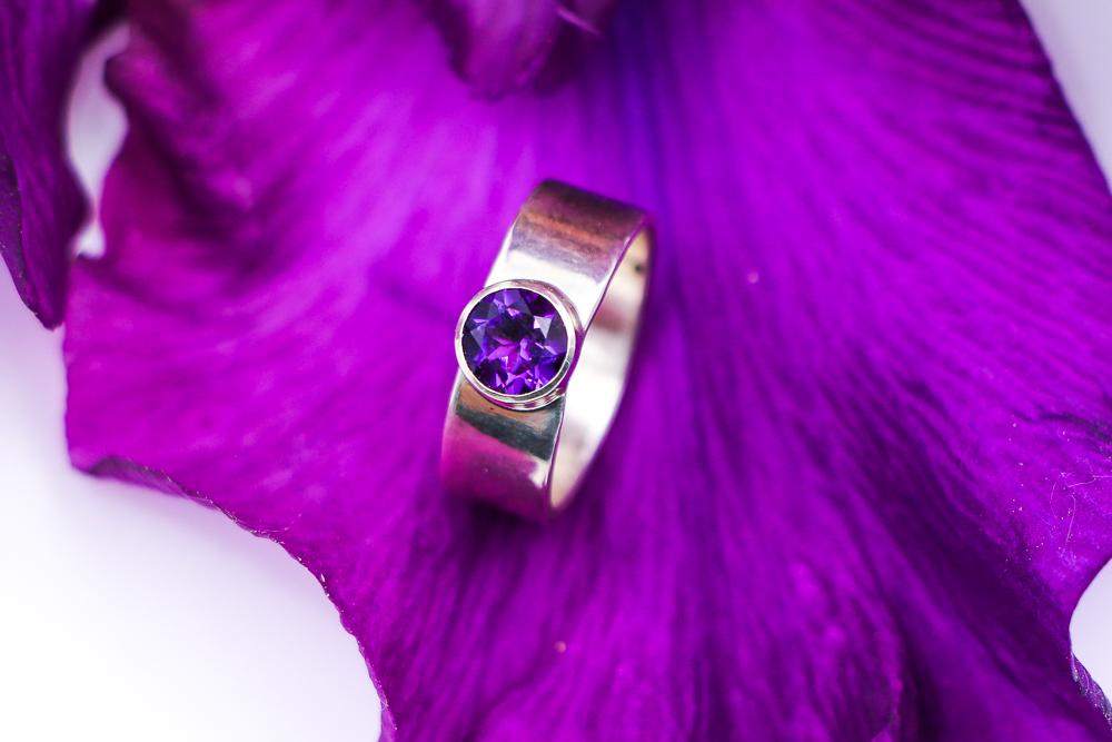 Amethyst ring by Ron Piercy