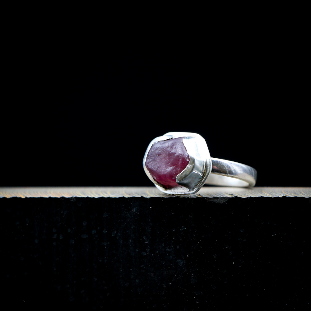 Ruby in Sterling Silver Ring