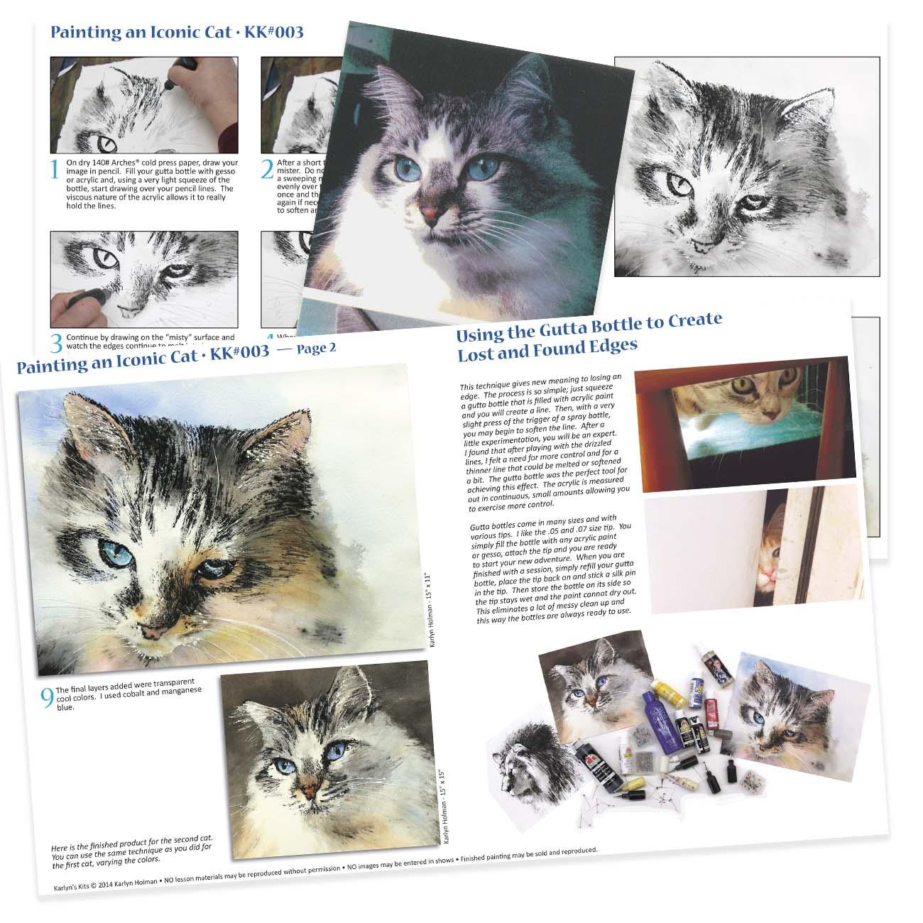 KK003 Painting an Iconic Cat