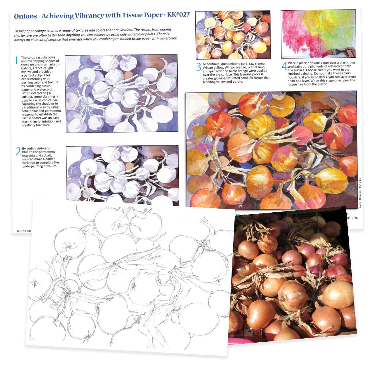 KK027 Onions - Vibrancy with Tissue Paper