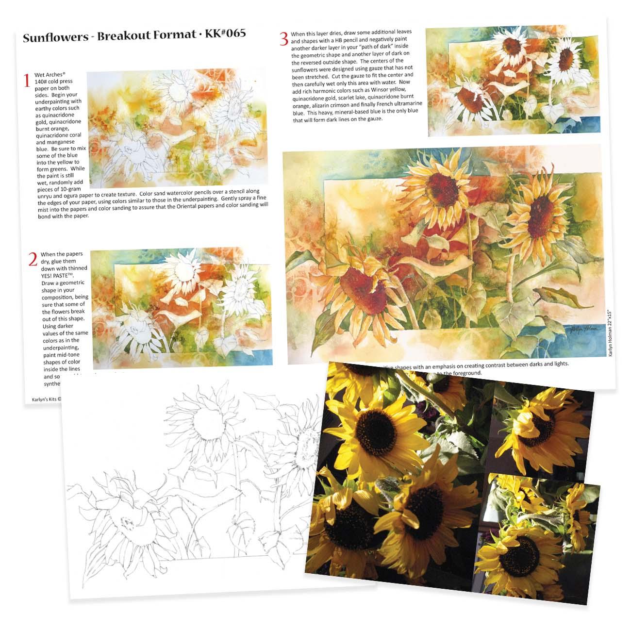 KK065 - Sunflowers, Breakout Format