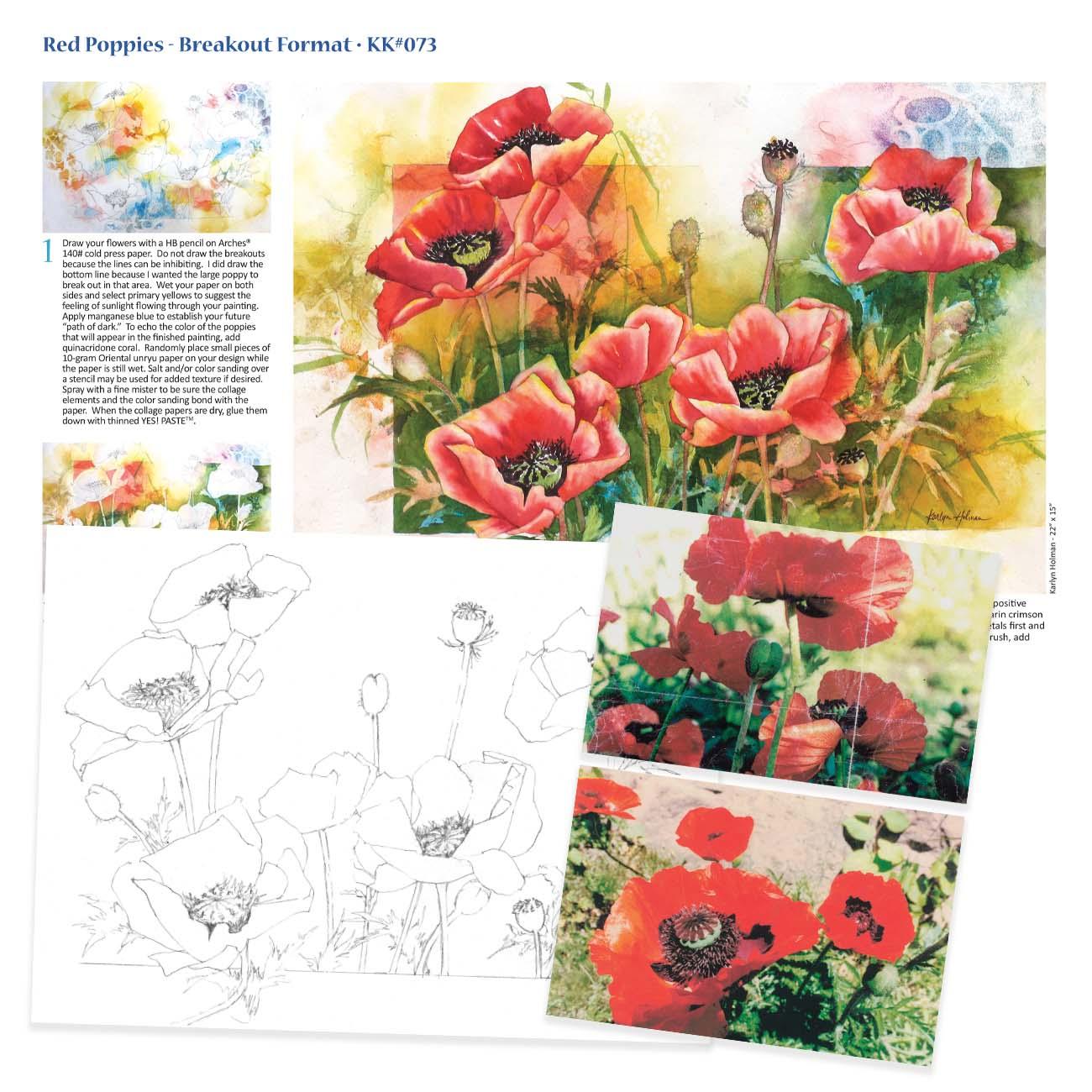 KK073 - Red Poppies, Breakout Format