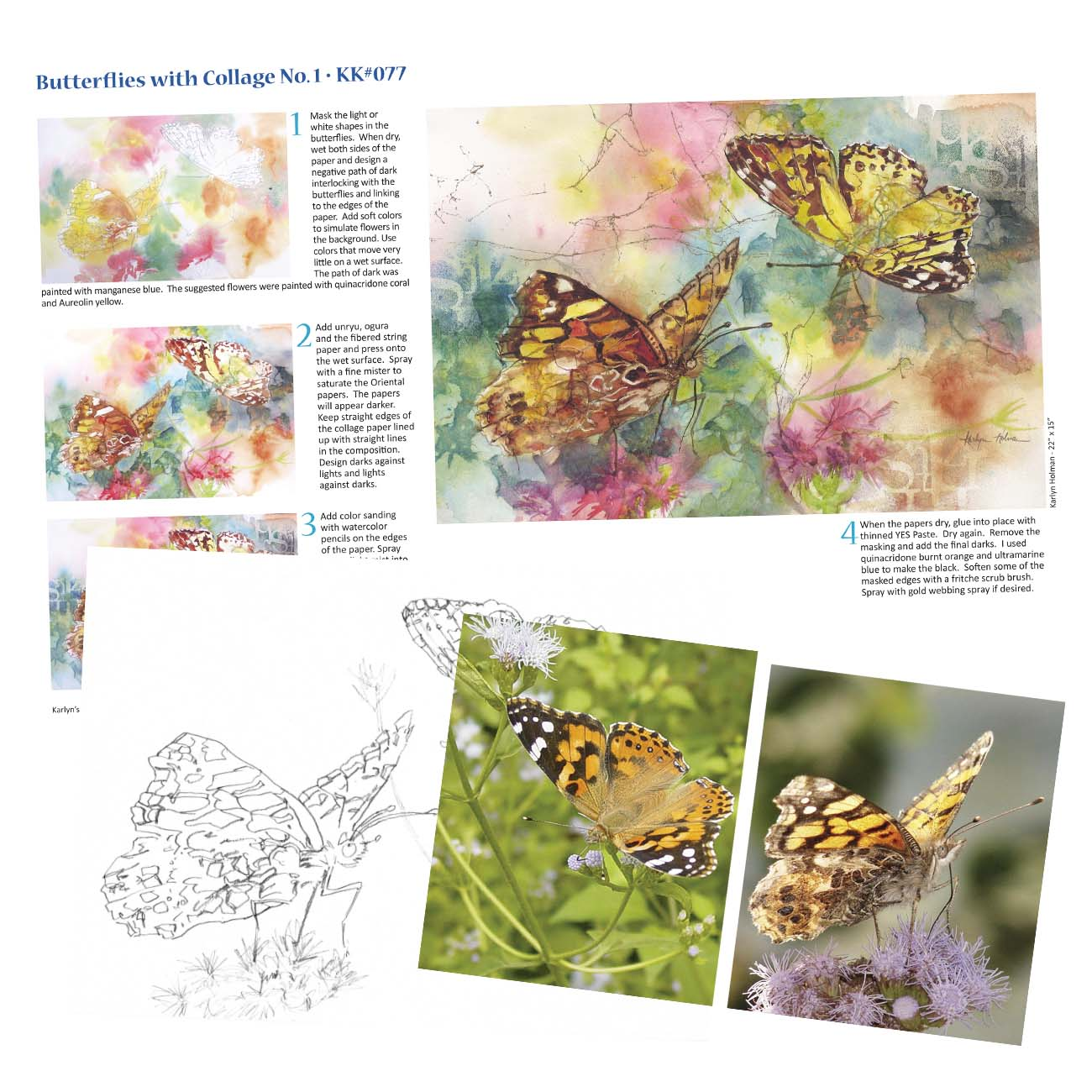 KK077 - Butterflies Collage No. I