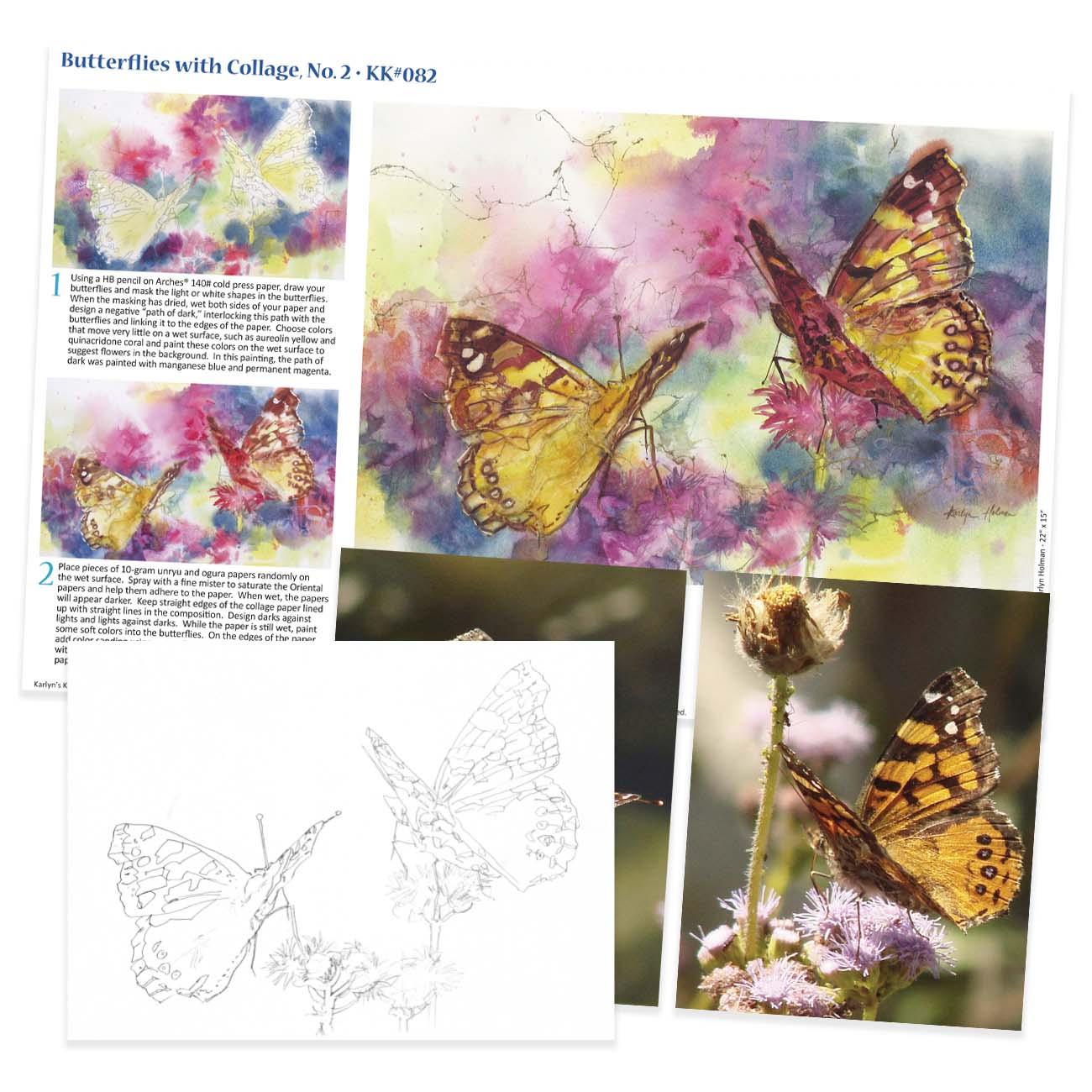 KK082 - Butterflies Collage No. II
