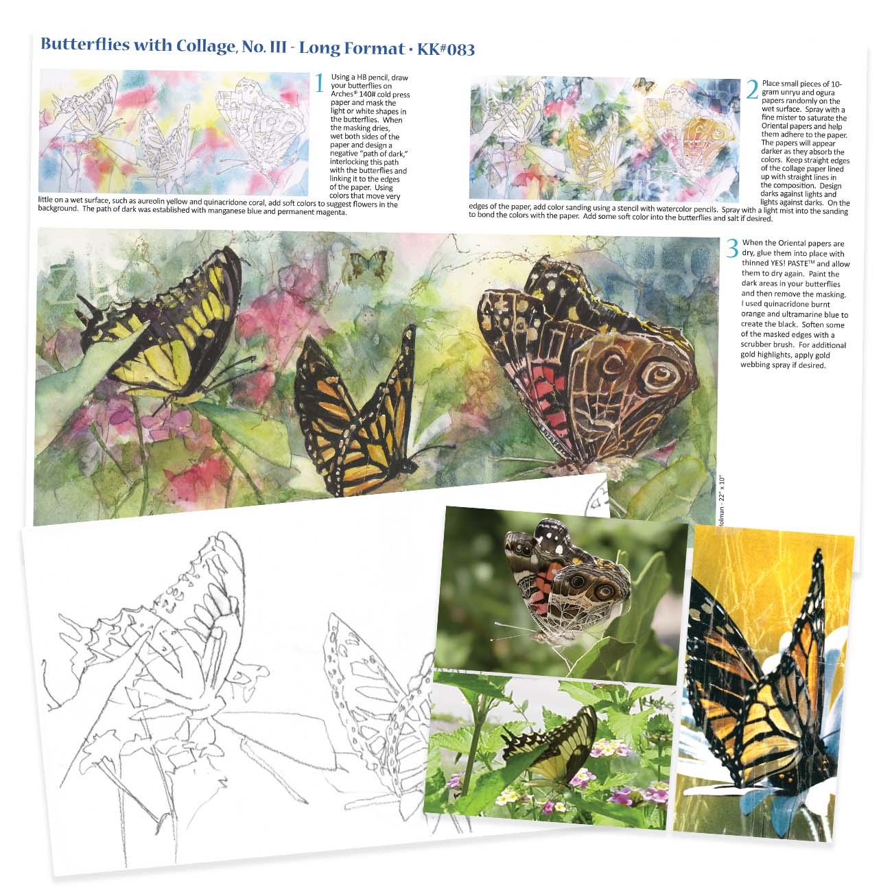 KK083 - Butterflies Collage No. III