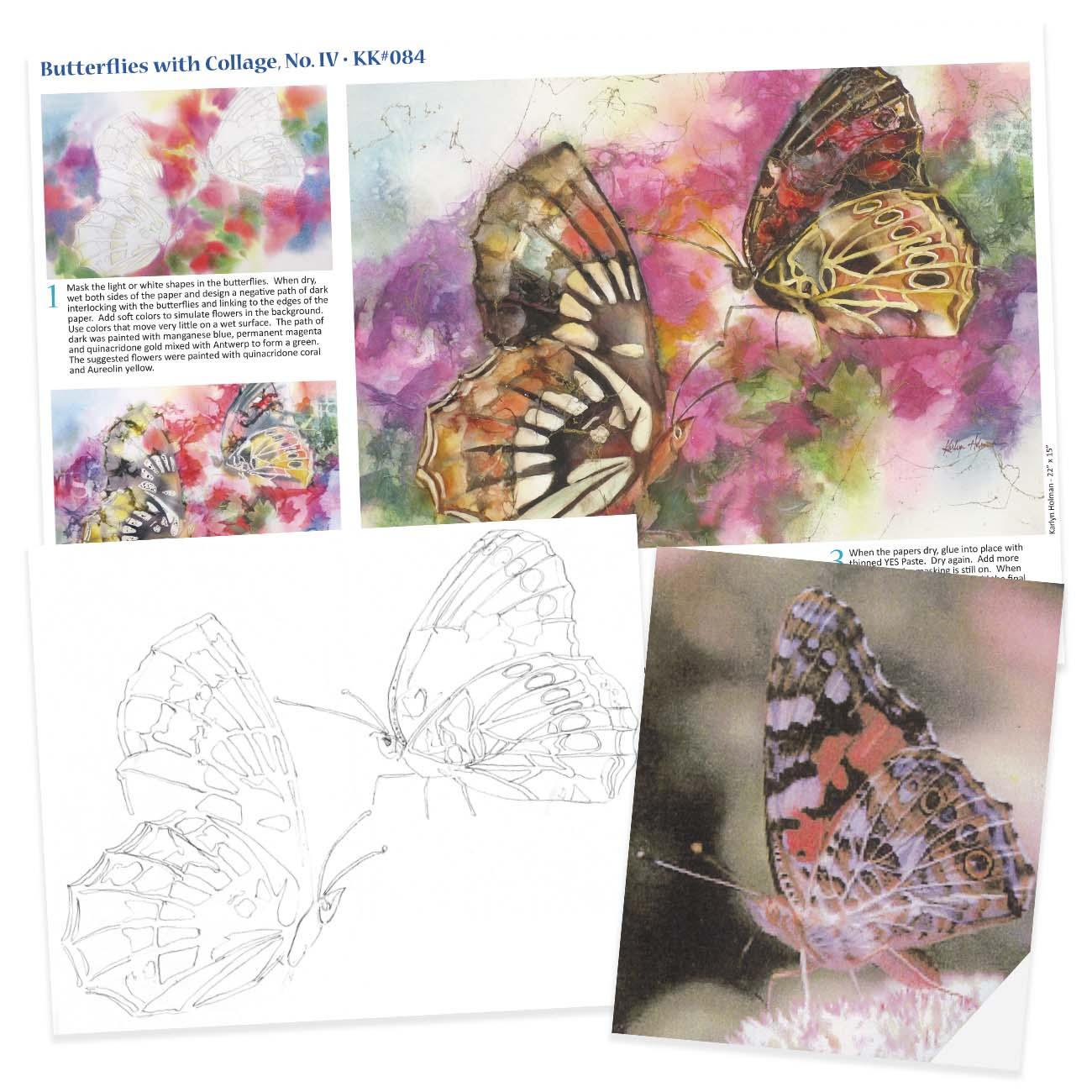 KK084 - Butterflies Collage No. IV