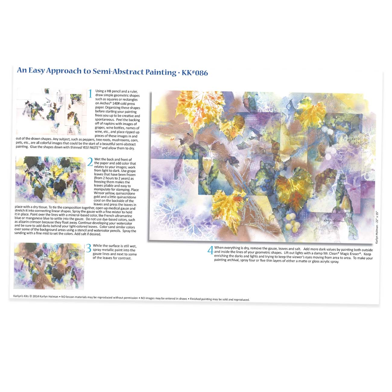 KK086 - Easy Approach to Semi-Abstract Watercolor
