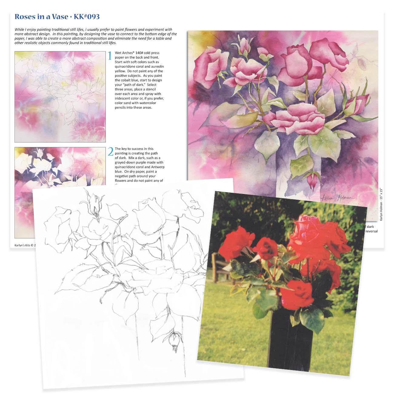 KK093 - Roses in a Vase