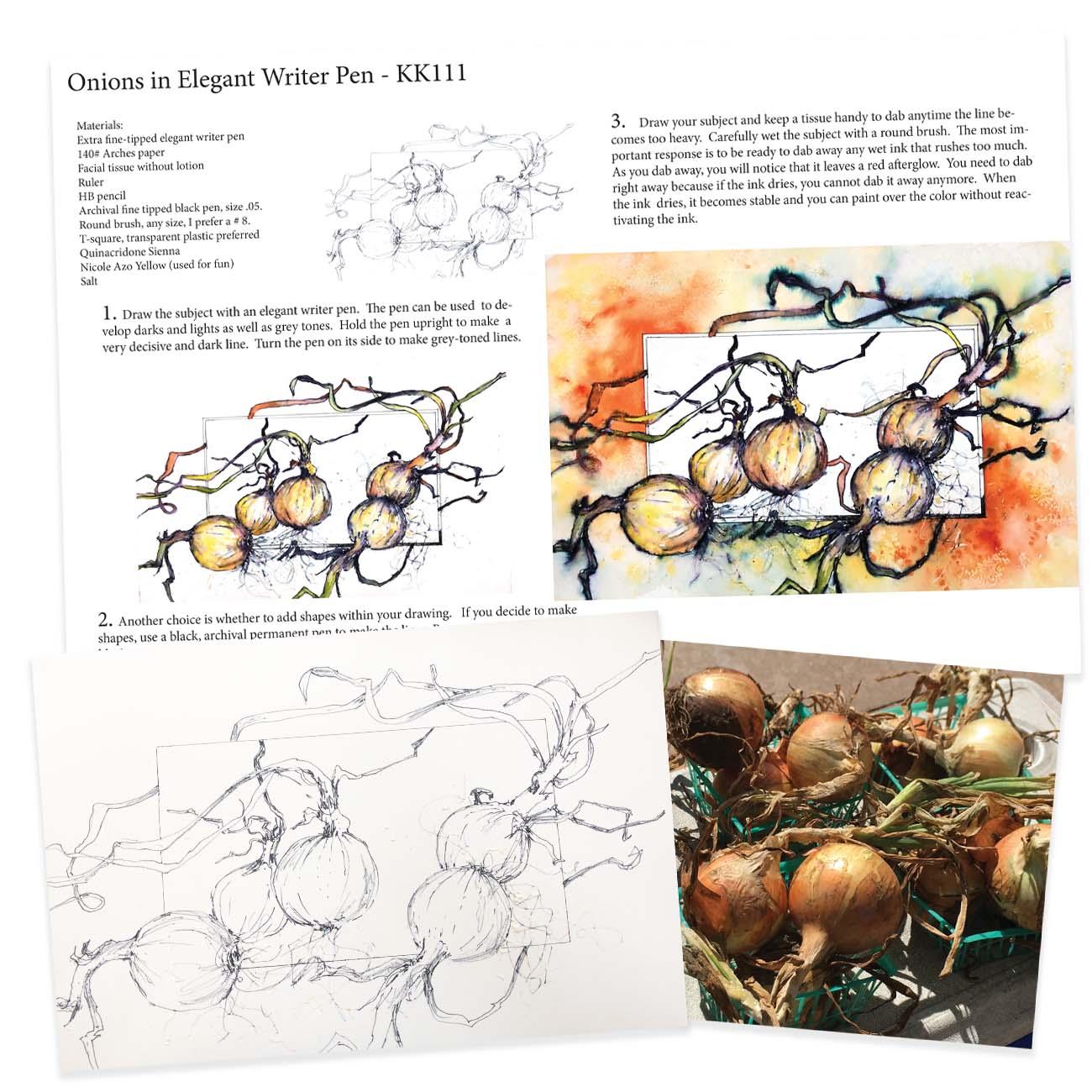 KK111 Onions in Elegant Writer Pen